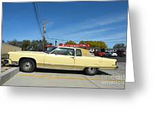 Lincoln Continental At Brint's Diner Greeting Card