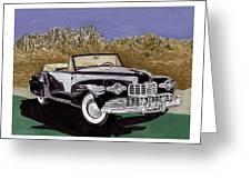 Lincoln Continental Mk I Greeting Card