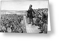 Lincoln Delivering The Gettysburg Address Greeting Card