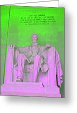 Lincoln In Green Greeting Card
