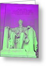 Lincoln In Purple Greeting Card