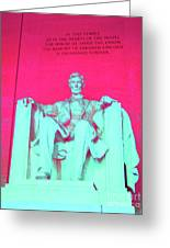 Lincoln In Red Greeting Card