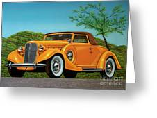 Lincoln K Convertible 1935 Painting Greeting Card