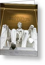 Lincoln Memorial 2 Greeting Card