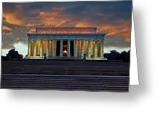 Lincoln Memorial At Dusk Greeting Card