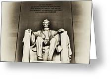 Lincoln Memorial Greeting Card