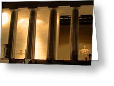 Lincoln Memorial By Night Greeting Card