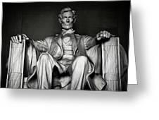 Lincoln Memorial Greeting Card by Daniel Hagerman