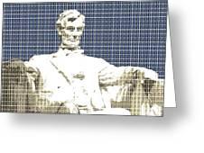 Lincoln Memorial - Dark Blue Greeting Card