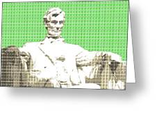 Lincoln Memorial - Green Greeting Card