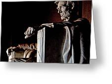 Lincoln Memorial In Washington D.c. Greeting Card