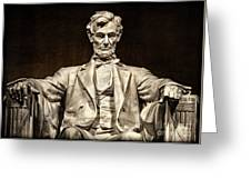 Lincoln Monument Greeting Card