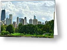 Lincoln Park Pano  Greeting Card