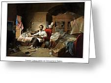 Lincoln Writing The Emancipation Proclamation Greeting Card