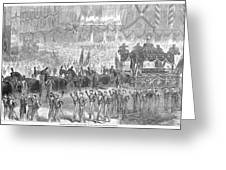 Lincolns Funeral, 1865 Greeting Card