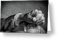 Lincoln's Left Hand B-w Greeting Card