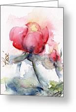 Linda's Rose Watercolor Greeting Card