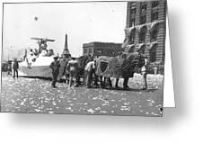 Lindbergh Parade, 1927 Greeting Card