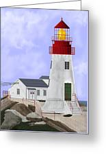 Lindesnes Norway Lighthouse Greeting Card