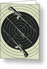 Line Art Rifle Range Greeting Card