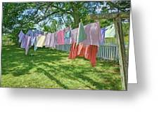 Line Dry - Laundry Greeting Card