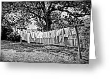 Line Drying - Laundry Greeting Card
