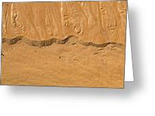 Line In The Sand Greeting Card