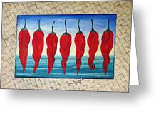 Line Of Fire Greeting Card by Sharon Ebert