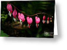 Line Of Hearts Greeting Card