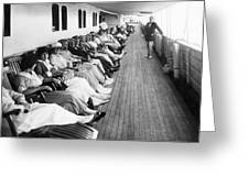 Line Of Ship Passengers Greeting Card