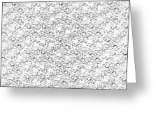 Linear Bulbs Pattern Whitesilver Black Greeting Card