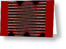 Linear Lesson In Black And Red Greeting Card