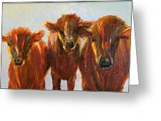 Lined Up For Supper Greeting Card