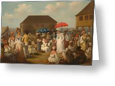 Linen Market - Dominica  Greeting Card