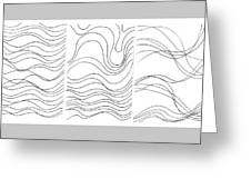 Lines 1-2-3 Black On White Greeting Card