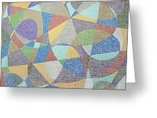 Lines And Curves Greeting Card