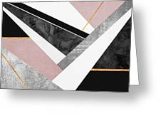 Lines And Layers Greeting Card by Elisabeth Fredriksson