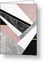 Lines And Layers Greeting Card