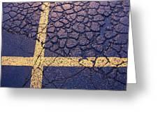 Lines On Asphalt I Greeting Card