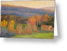 Lingering Light - Tuscany Greeting Card