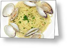 Linguine With Clams Greeting Card
