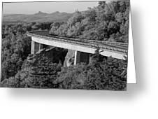 Linn Cove Viaduct Black And White Greeting Card