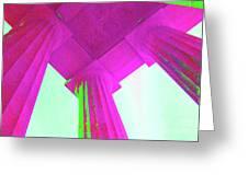 Linocln Column Pink Greeting Card