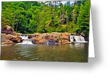 Linville Falls Nc Greeting Card
