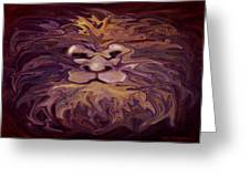 Lion Abstract Greeting Card