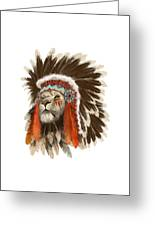 Lion Chief Greeting Card