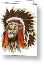 Lion Chief Greeting Card