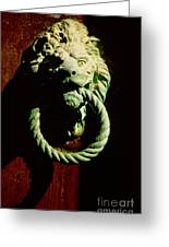 Lion Door Knocker In Venice Greeting Card