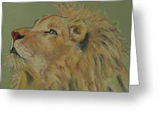 Lion Hearted Greeting Card