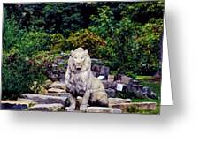 Lion In A Concrete Jungle Greeting Card